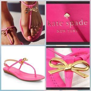 Kate Spade Tracie Zinnia Pink Gold Bow San…
